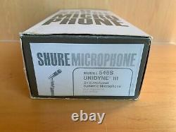 Vintage Shure Modèle 545s Unidyne III Dynamic Microphone Nos