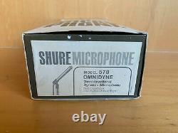 Vintage Shure Modèle 578 Omnidyne Microphone Dynamic Brand New In Box